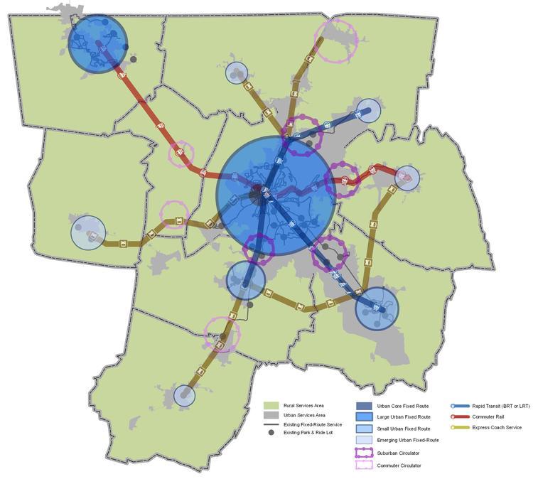 Three Potential Destinations for Light Rail:  Gallatin, Murfreesboro and Franklin