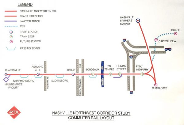 Proposed Commuter Rail Would Connect the Gulch and Clarksville