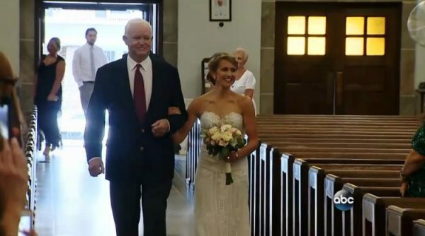Bride Escorted By Man Who Received Her Father's Heart Donation
